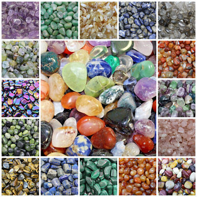 5 Pack Lot Tumbled Stones: Choose Type (Crystal Healing Gemstone Bulk Lot Rocks)](Bulk Gemstones)