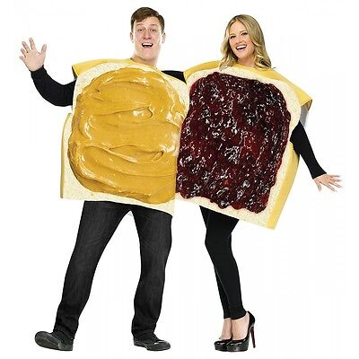 Peanut Butter and Jelly Costumes Adult Funny Couples Halloween Fancy Dress (Halloween Costumes Couples Funny)