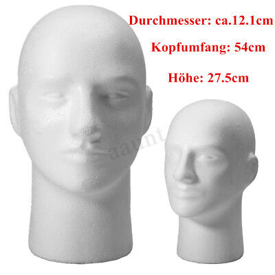 11 Male Men Styrofoam Foam Mannequin Manikin Stand Model Display Head White Us