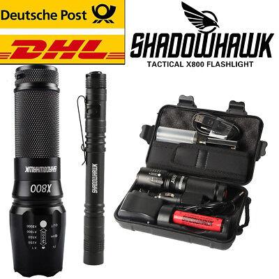 20000lm echt X800 Shadowhawk taktische Polizei Taschenlampe Cree L2 LED Fackel Led-taschenlampe