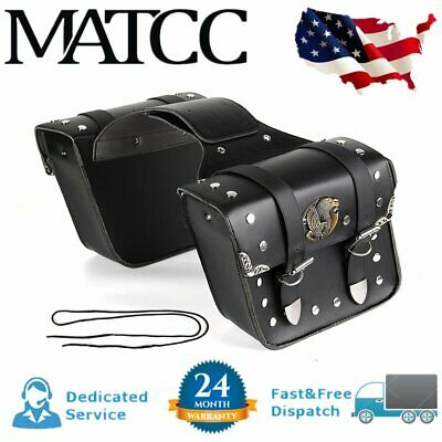 Motorcycle Side Saddle Bags Pannier Luggage For Harley Sportster XL 883 1200 US