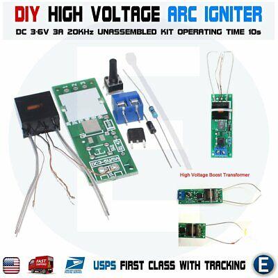 Dc 3-5v Diy Kit High Voltage Generator Arc Igniter Lighter Unassembled Kit