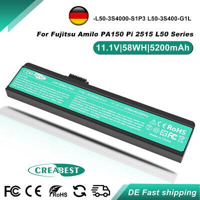 11.1V 5.2AH L50-3S4000-S1P3 Akku Für Fujitsu Amilo PA150 Pi 2515 23GL1GF0F-8A