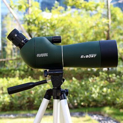 20-60x60 Zoom Spektiv für Sportschützen, Jagd, Wandern +Stativ+phone Adapter