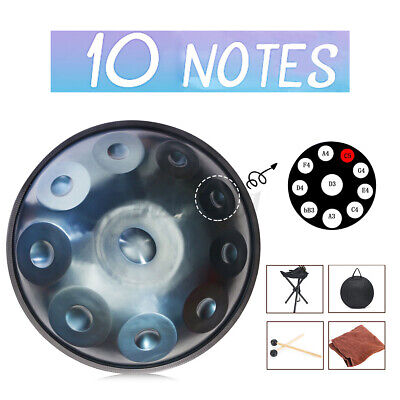 10 Notes Hand Drum Handmade Professional Carbon Steel Drum Ethereal Mystery Gift