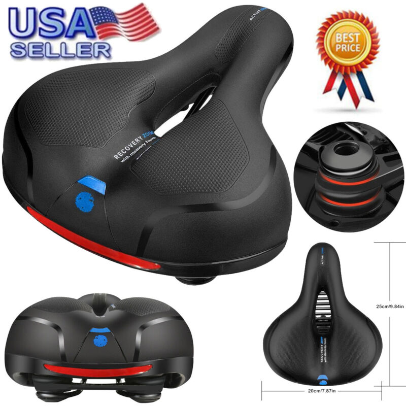 Extra Wide Comfy Cushioned Bike Seat Soft Padded Bicycle Mem