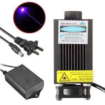 405nm 500mw Focus Dot Engraving Laser Module 12v Adapter Violet-blue Diode Carve