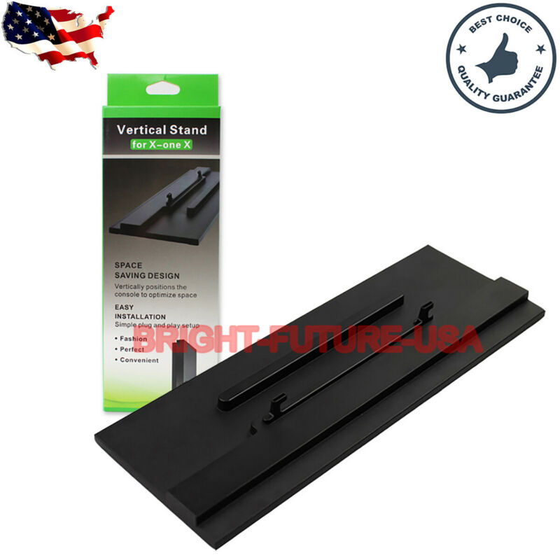 Vertical Stand For Microsoft Xbox One X Console With Hook Easy Install Black US
