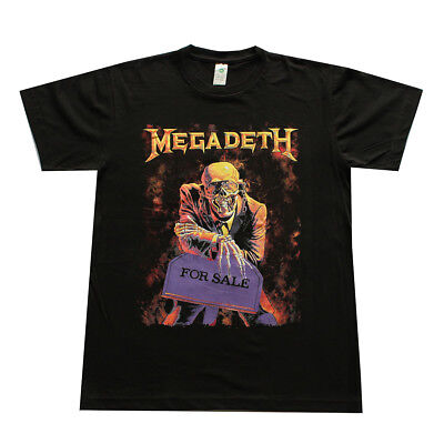 MEGADETH Metal Rock Band Men's T- shirt Black  ()