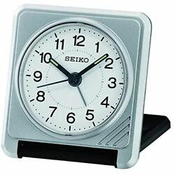 Seiko Alarm Tabletop Clock Sachi Travel Silver Tone QHT015SLH