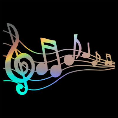 1pc Musical Notes Pattern Decal Car Piano Guitar Wall Laptop Vinyl Sticker Decor](Musical Decor)