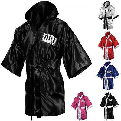 Title Boxing Stock Full Length Satin Walkout Robe ()