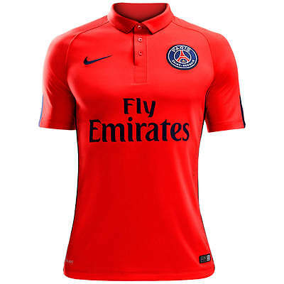 21b74de2bca3d Nike PSG Authentic Paris Saint-Germain Soccer Jersey Match Player issue  Shirt LG