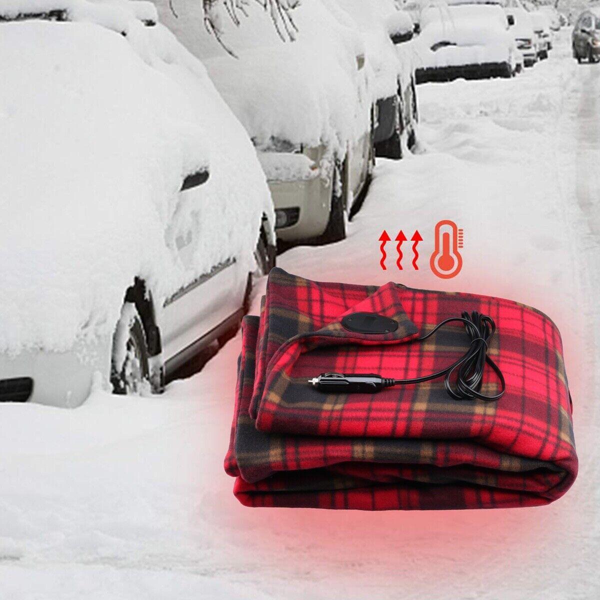 LARGE 12V ELECTRIC HEATED CAR VAN TRUCK POLAR FLEECE COZY WA