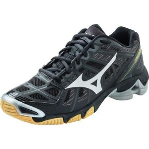 Mizuno-Wave-Lightning-RX2-Mens-Black-Silver-Volleyball-Shoes-430156-9073-NEW