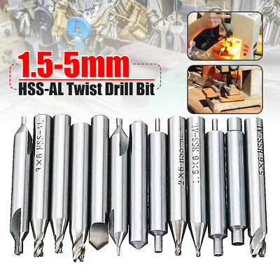 13pcsset 1.5-5mm Twist Drill Bit Hss-al Lock Tools Parts For Key Cutter Machine