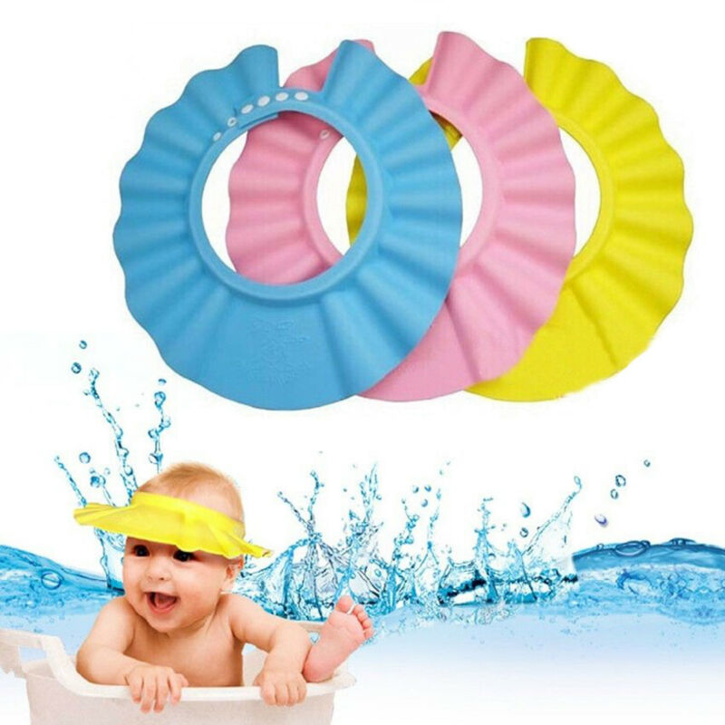 Baby Kids Toddler Adjustable Hair Wash Hat Shampoo bathing Shower Eye Shield Cap