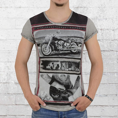 Dk Grey T-shirt (Trueprodigy Männer T-Shirt Lifestyle grau Herren Men's Tee True Prodigy grey)