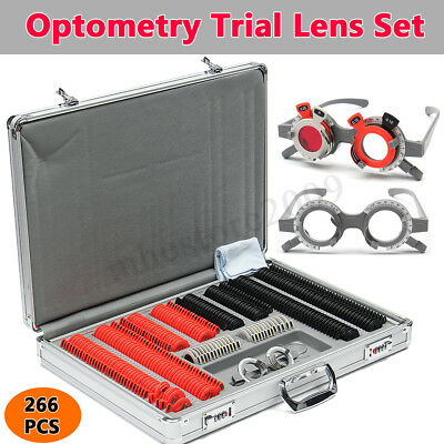 266pcs Industrial Optical Trial Lens Optometry Metal Rim Pu Case Trial Frame