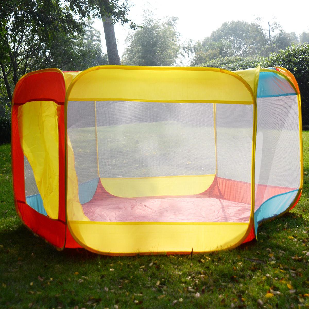Купить Folding Portable Playpen Baby Play Yard With Travel Bag Indoor Outdoor Safety