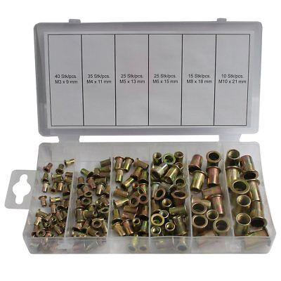 Normex Qualitäts-Werkzeuge Nietmutternsortiment Stahl verzinkt 150 tlg. 14-240