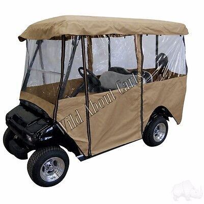 Golf Cart Deluxe 4-Sided Enclosure 80 Top for EZGO/Club Car/Yamaha
