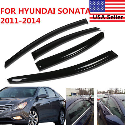 For 2011 2012 13 14 Hyundai Sonata Window Side Visors Rain Guard Vent Deflectors