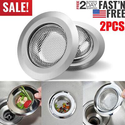 "2 PCS 4.5"" Kitchen Sink Strainer Stainless Steel Mesh Bath Drain Stopper Filter"