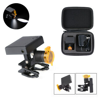 3w Dental Led Wireless Headlight With Optical Filter For Binocular Loupes Glass