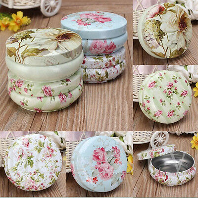 Cute Metal Candy Trinket Tin Jewelry Iron Pill Tea Coin Storage Square Box Case