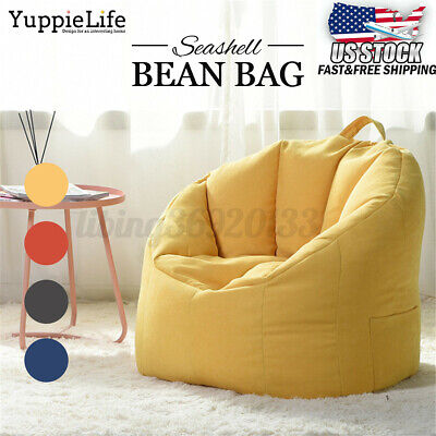 Large Bean Bag Chair Sofa Couch Cover Indoor Outdoor Lazy Lounger Kids Adult Outdoor Painted Chair