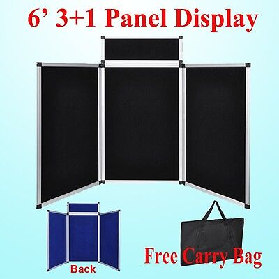 6 31 Black Panel Header Trade Show Display Presentation Tabletop 6ft Loop