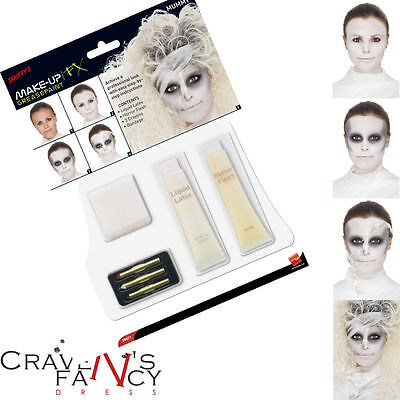 Mummy Make Up Face Paint Set Kit Special FX Halloween Fancy Dress Smiffys