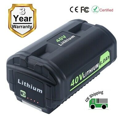 New 40V 6.0Ah OP4050A Li-ion Replacement Battery for Ryobi 40-Volt Tool OP40501