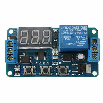 Automation Dc 12v Led Display Digital Delay Timer Control Switch Relay Module E8
