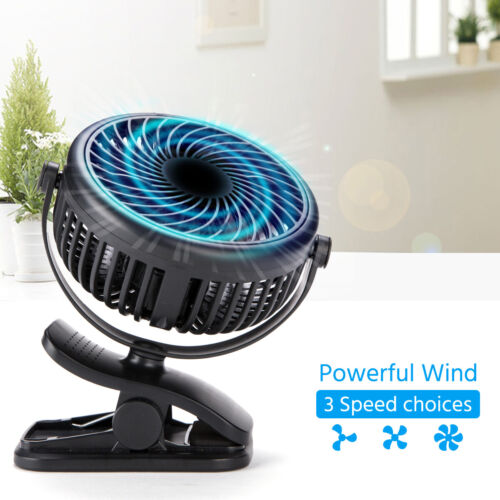 """4"""" 3 Speed Oscillating Quiet Fan Stand Up Wall Mount Clip on Circulating Fan USA"""
