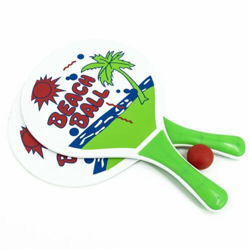 Beachball Set Beach Ball je Set 2 Schläger & 1 Ball Strand Tennis Strandspiel