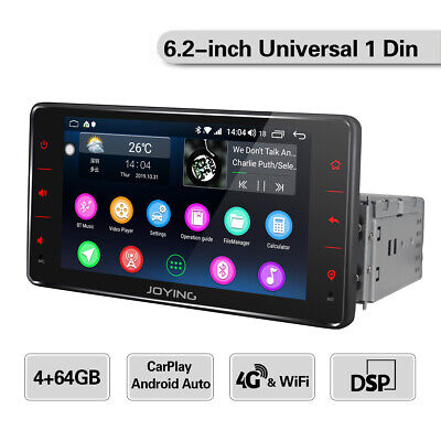 """6.2"""" Stereo 1 Din Con Schermo Touchscreen Android Bluetooth 4+64GB CarAutoPlay"""