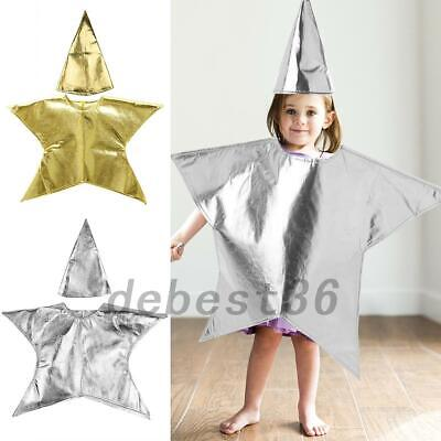 Christmas Nativity Costumes (Christmas Nativity Kids Children Star Costume with Hat Boys Girls Fancy)