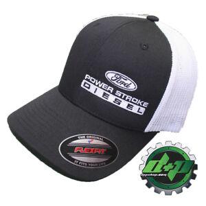 1680b03351a FLEXFIT FITTED ford powerstroke trucker ball cap hat diesel truck gear flex  fit