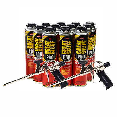 Dow Great Stuff Pro Gaps And Crack 24 Oz Case Of 12 Cans 2 Pro Foam Gun