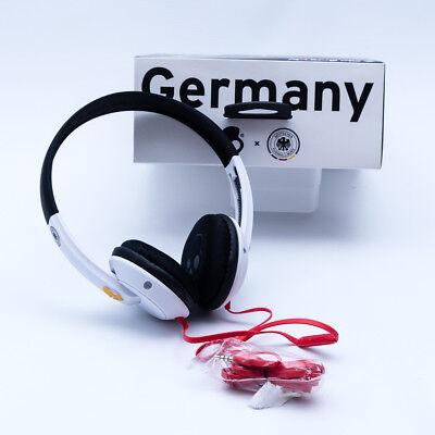 100x Skullcandy Kopfhörer inkl. Mikrofon mit DFB LOGO Deutschland Fussball WM