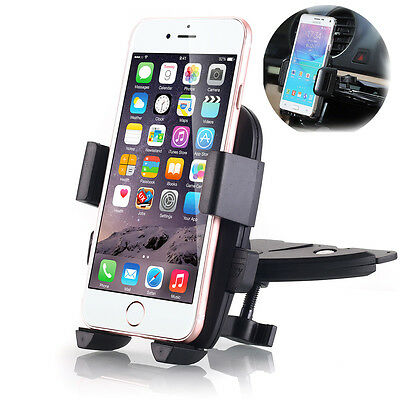 CD Slot Car Stereo Smart Phone Holder Mount for Apple iPhone 6s - iPhone 7 Plus