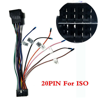 20Pin ISO Wiring Harness Connector Adaptor For ISO Android 20Pin Car Stereo Lead