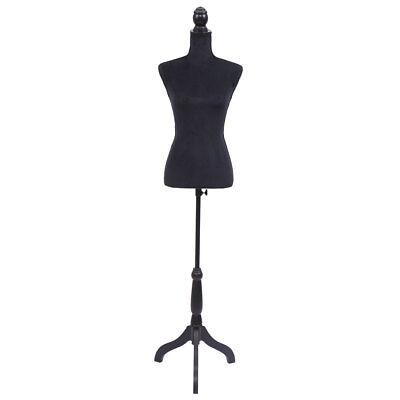 Female Mannequin Torso Dress Form Display Wblack Tripod Stand Us Styrofoam New