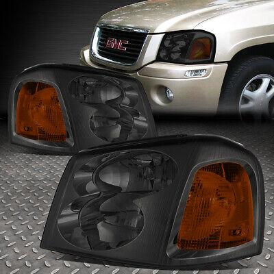 15866070 Headlamp - FOR 02-09 GMC ENVOY SUV PAIR SMOKED HOUSING AMBER SIDE SIGNAL HEADLIGHT/LAMP SET