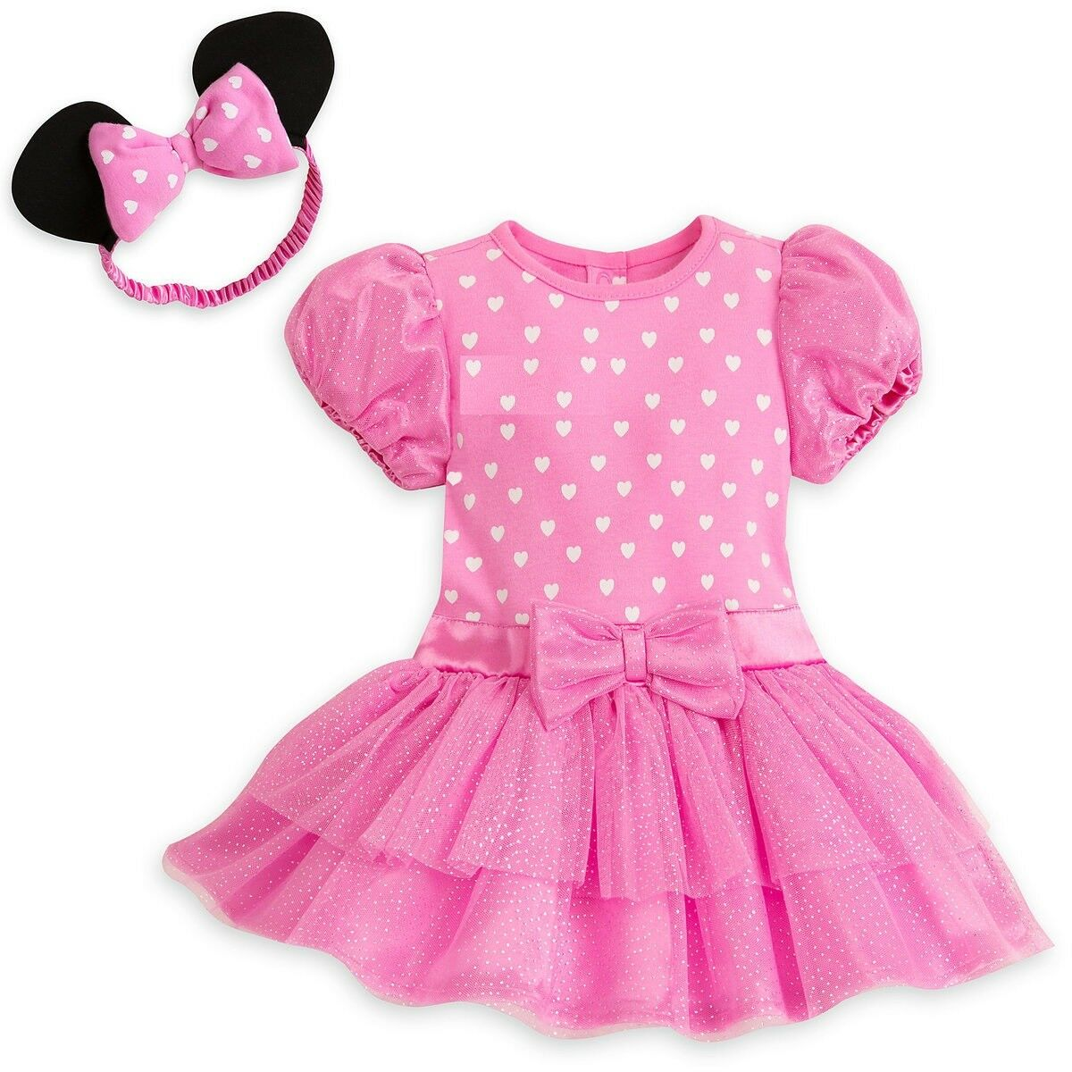 Disney Minnie Mouse Pink Baby Bodysuit & Headband 3 6 9 12 1