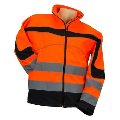 Hi Vis Viz Visibility Fleece Jacket Rain Patch Safety Work Mens Warm Soft Shell