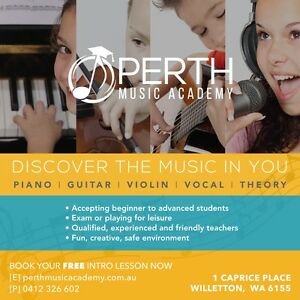 MUSIC LESSONS: PIANO, VIOLIN, GUITAR, VOCAL LESSONS Perth Perth City Area Preview