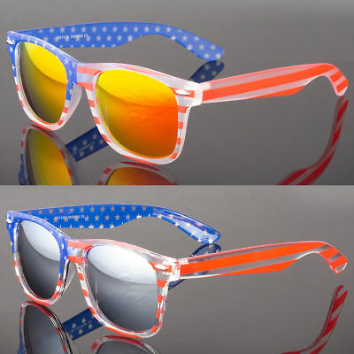 Patriotic Sunglasses American Flag USA Lens Star Stripe Pilot Shades Patriot - Sunglasses Star